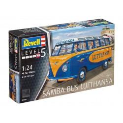"Plastic ModelKit auto 07436 - VW T1 Samba Bus ""Lufthansa"" (1:24)"