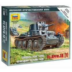 Wargames (WWII) tank 6130 - German Light Tank PZ.KPFW.38 (T) (1:100)