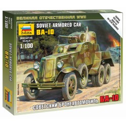 Wargames (WWII) military 6149 - Soviet Armored Car BA-10 (1:100)