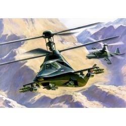 """Model Kit vrtulník 7232 - Kamov KA-58 """"Black Ghost"""" (1:72)"""