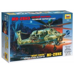 Model Kit vrtulník 7255 - MIL MI-28N Russian Helicopter (1:72)