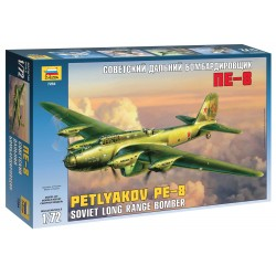 Model Kit letadlo 7264 - Pe-8 Soviet Long-Range Heavy Bomber WWII (1:72)
