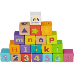 BOIKIDO drevené ABC kocky 28 ks