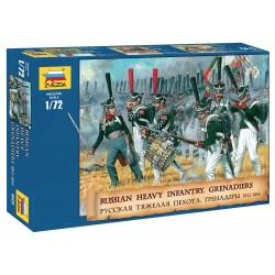 Wargames (AOB) figúrky 8020 - Russian Heavy Infantry Grenadiers 1812-1815 (1:72)