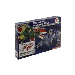 Model Kit Special Edition letadlo a vrtulník 1329 - WESSEX HAS.3 & SEA HARRIER FRS.1 Falkland (1:72)