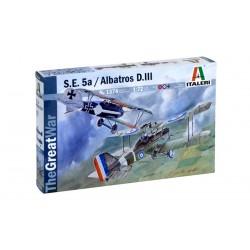 Model Kit letadlo 1374 - S.E.5a and ALBATROS D.III (1:72)