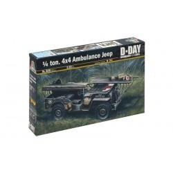 Model Kit military 0326 - 1/4 TON. 4x4 AMBULANCE JEEP (1:35)