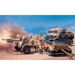 Model Kit military 7027 - MORRIS QUAD TRACTOR. /25 PDR. GUN (1:72)