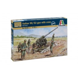 Model Kit figurky 6122 - ITALIAN 90/53 GUN with CREW (1:72)