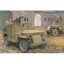 Model Kit military 6748 - 1/4-TON TRUCK 4x4 AROMORED TRUCK w/BAZOOKA (1:35)