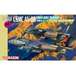 """Model Kit letadlo 4617 - USMC AV-8B VMAT-203 """"HAWKS"""" & VMA-513 """"FLYING NIGHTMARES"""" (1:144)"""
