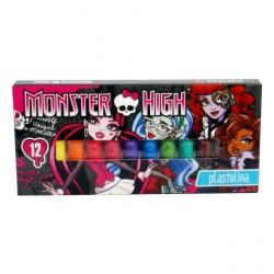 Monster High plastelína - 12 ks