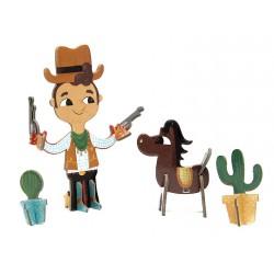 3D Puzzle - Cowboy