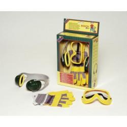 Bosch súprava - slúchadlá, rukavice, okuliare