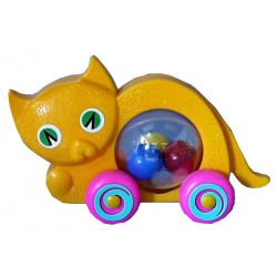 Mačka s loptičkami
