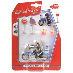 Policajná motorka 10 cm, prísl.