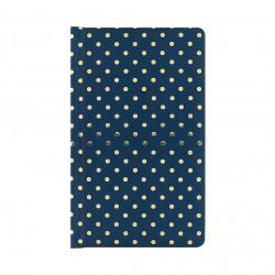 Blok se zlatými puntíky - tmavě modrý