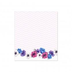 Samolepící bloček - květy