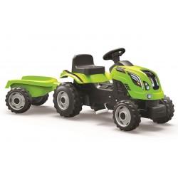 Šliapací traktor Farmer XXL zelený s vozíkom