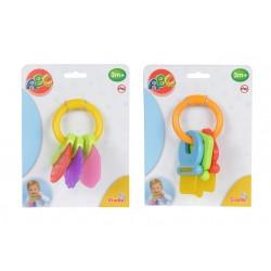 2v1 Hrkálka a hryzátko - kľúče/ovocie
