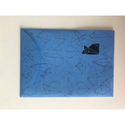 Pouzdro na dok.A6 Origami modré
