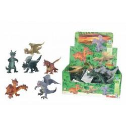 Figúrky drakov, 12 DP, 17-25 cm, 6 druhov