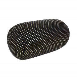 Relaxační polštář černý se zlatými puntíky