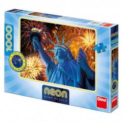Žiariace SOCHA SLOBODY 1000 neon Puzzle