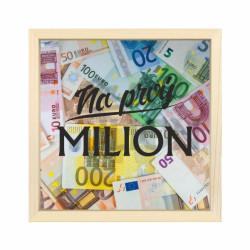 """ALBI Drevená pokladnička """"Na prvý milión"""""""