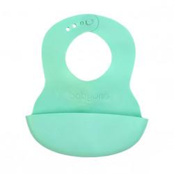 Podradník mäkký plastový s kapsou bez BPA zelený 6m+