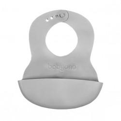Podradník mäkký plastový s kapsou bez BPA šedý 6m+