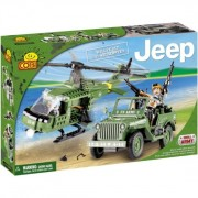 COBI 24254 Small Army JEEP Willys MB s vrtulníkom