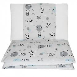 Bielizeň posteľná 2-dielna Panda 90x120cm + 40x60cm