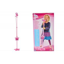 MMW Ružový mikrofón so stojanom, aj pre MP3