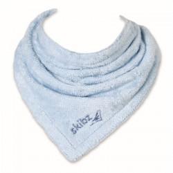 Skibz bryndáček/slintáček organická bavlna Baby Blue