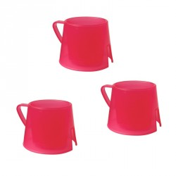 Steadyco hrnček Steadycup® 3pack Red