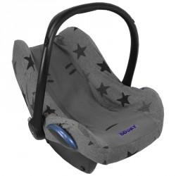 Dooky potah na autosedačku Seat Cover 0+ Grey Stars