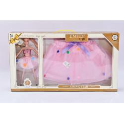 Bábika sa sukienkou pre dievčatko - ružová