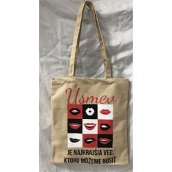 Plátená taška - Úsmev