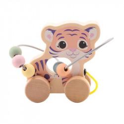 The Wildies Family drevená hračka s labyrintom Tiger 12m+