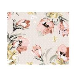 Nákrčník - Ružové kvety M