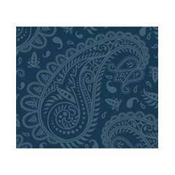 Nákrčník - Paisley modrá M
