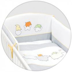 CEBA Bielizeň posteľná 3-dielna Nezbedníci vyšívaný šedá