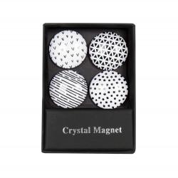 ALBI Krystalové magnetky - černobílé kruhy