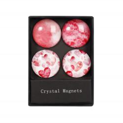 ALBI Krystalové magnetky - kruhy se srdcem