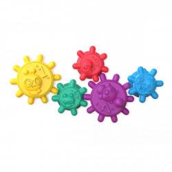 BABY EINSTEIN Hračka maxi prísavky 5 ks Gears of Discovery™ 6m+