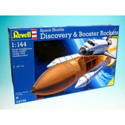 Plastic ModelKit vesmír 04736 - Space Shuttle Discovery+Booster Rockets (1:144)