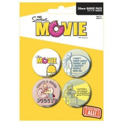 Placka set - The Simpsons Movie - 4x38mm
