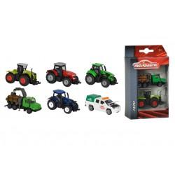 Farmářske vozidlo kovové 2 ks, 3 druhy