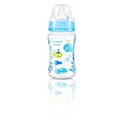 Dojčenská antikoliková fľaša široké hrdlo modrá 240 ml